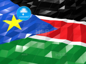 Flag of South Sudan 3D Wallpaper Illustration - HEBSTREITS Sketches