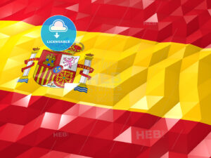 Flag of Spain 3D Wallpaper Illustration - HEBSTREITS Sketches