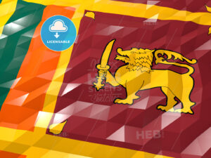 Flag of Sri Lanka 3D Wallpaper Illustration - HEBSTREITS Sketches