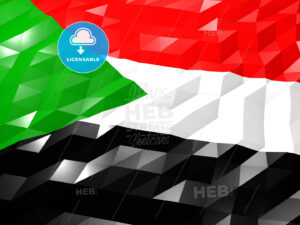 Flag of Sudan 3D Wallpaper Illustration - HEBSTREITS Sketches
