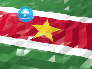 Flag of Suriname 3D Wallpaper Illustration - HEBSTREITS Sketches