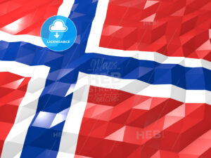 Flag of Svalbard and Jan Mayen 3D Wallpaper Illustration - HEBSTREITS Sketches