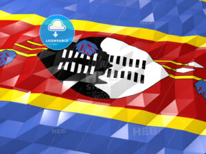 Flag of Swaziland 3D Wallpaper Illustration - HEBSTREITS Sketches