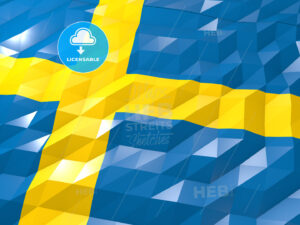 Flag of Sweden 3D Wallpaper Illustration - HEBSTREITS Sketches