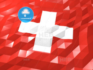 Flag of Switzerland 3D Wallpaper Illustration - HEBSTREITS Sketches