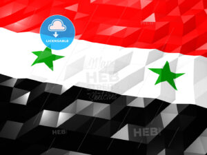 Flag of Syria 3D Wallpaper Illustration - HEBSTREITS Sketches