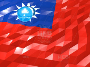 Flag of Taiwan 3D Wallpaper Illustration - HEBSTREITS Sketches