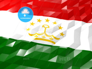 Flag of Tajikistan 3D Wallpaper Illustration - HEBSTREITS Sketches