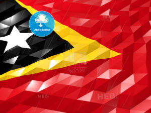 Flag of Timor-Leste 3D Wallpaper Illustration - HEBSTREITS Sketches