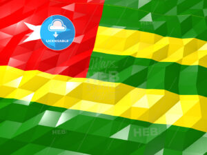 Flag of Togo 3D Wallpaper Illustration - HEBSTREITS Sketches