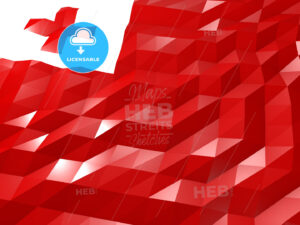 Flag of Tonga 3D Wallpaper Illustration - HEBSTREITS Sketches