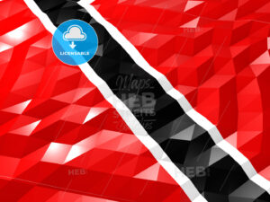 Flag of Trinidad and Tobago 3D Wallpaper Illustration - HEBSTREITS Sketches