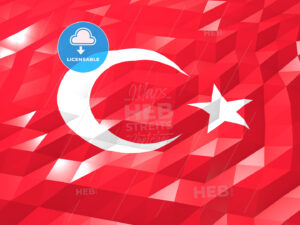 Flag of Turkey 3D Wallpaper Illustration - HEBSTREITS Sketches
