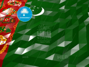 Flag of Turkmenistan 3D Wallpaper Illustration - HEBSTREITS Sketches