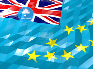 Flag of Tuvalu 3D Wallpaper Illustration - HEBSTREITS Sketches