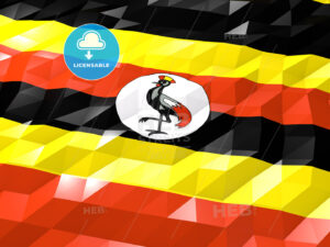 Flag of Uganda 3D Wallpaper Illustration - HEBSTREITS Sketches