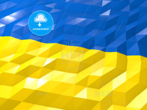 Flag of Ukraine 3D Wallpaper Illustration - HEBSTREITS Sketches
