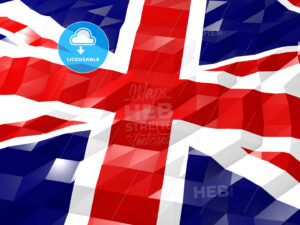 Flag of United Kingdom of Great Britain and Northern Ireland 3D - HEBSTREITS Sketches