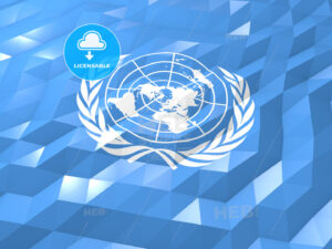 Flag of United Nations 3D Wallpaper Illustration - HEBSTREITS Sketches