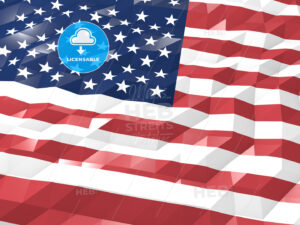 Flag of United States of America 3D Wallpaper Illustration - HEBSTREITS Sketches