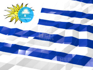 Flag of Uruguay 3D Wallpaper Illustration - HEBSTREITS Sketches