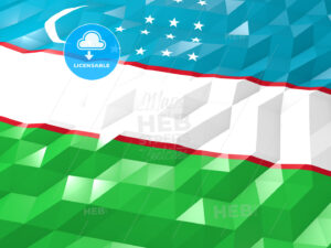 Flag of Uzbekistan 3D Wallpaper Illustration - HEBSTREITS Sketches