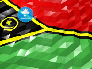 Flag of Vanuatu 3D Wallpaper Illustration - HEBSTREITS Sketches
