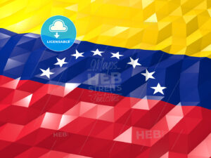 Flag of Venezuela 3D Wallpaper Illustration - HEBSTREITS Sketches