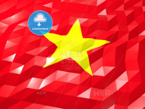 Flag of Vietnam 3D Wallpaper Illustration - HEBSTREITS Sketches