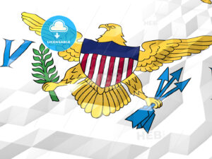 Flag of Virgin Islands, U.S. 3D Wallpaper Illustration - HEBSTREITS Sketches