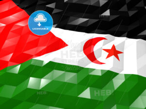 Flag of Western Sahara 3D Wallpaper Illustration - HEBSTREITS Sketches