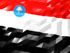 Flag of Yemen 3D Wallpaper Illustration - HEBSTREITS Sketches