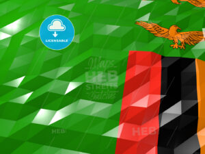 Flag of Zambia 3D Wallpaper Illustration - HEBSTREITS Sketches
