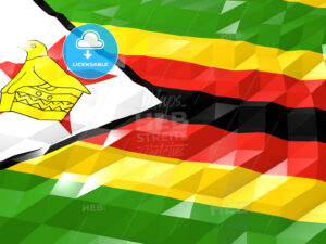 Flag of Zimbabwe 3D Wallpaper Illustration - HEBSTREITS Sketches
