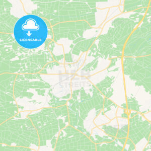 Herrenberg, Germany Vector Map – Classic Colors - HEBSTREITS Sketches
