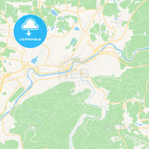 Karlovy Vary, Czechia Vector Map – Classic Colors - HEBSTREITS Sketches