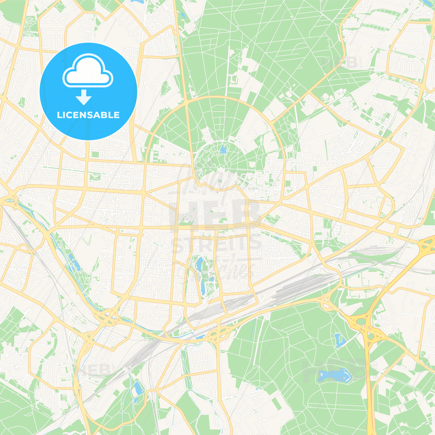 Karlsruhe Map Of Germany.Karlsruhe Germany Vector Map Classic Colors