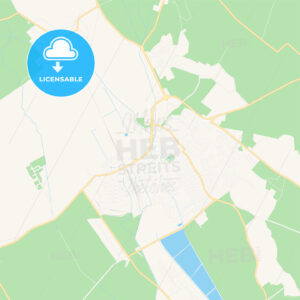 Levice, Slovakia Vector Map – Classic Colors - HEBSTREITS Sketches