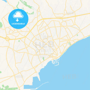Limassol , Cyprus Vector Map – Classic Colors - HEBSTREITS Sketches