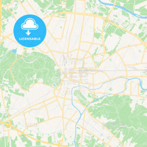 Ljubljana, Slovenia Vector Map – Classic Colors - HEBSTREITS Sketches