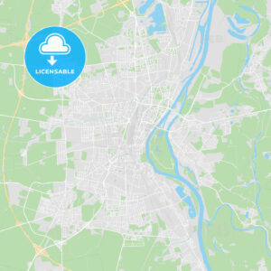 Magdeburg, Germany printable street map - HEBSTREITS