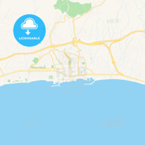 Marbella, Spain Vector Map – Classic Colors - HEBSTREITS Sketches