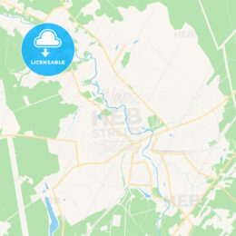 Naro-Fominsk, Russia Vector Map – Classic Colors