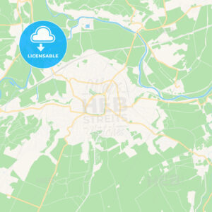 Naumburg (Saale), Germany Vector Map – Classic Colors - HEBSTREITS Sketches