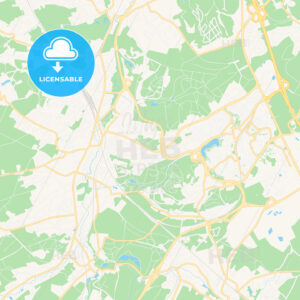 Ottignies-Louvain-la-Neuve, Belgium Vector Map – Classic Colors - HEBSTREITS Sketches