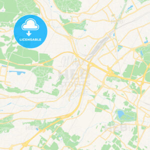 Palaiseau, France Vector Map – Classic Colors - HEBSTREITS Sketches