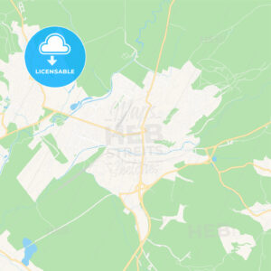 Prievidza, Slovakia Vector Map – Classic Colors - HEBSTREITS Sketches