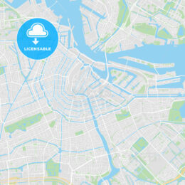 Printable map of Amsterdam, Netherlands