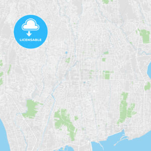 Printable map of Denpasar, Indonesia - HEBSTREITS