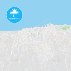 Printable map of Heraklion, Greece - HEBSTREITS